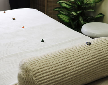 Massage Table with Stones