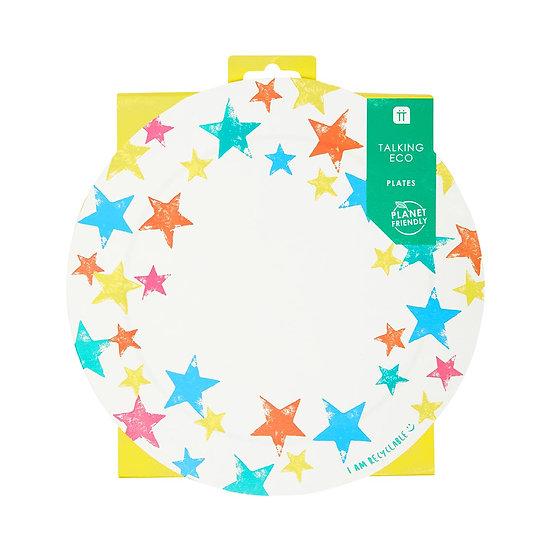 Birthday Brights Rainbow Star Plates