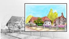 Illustration for real estate agency