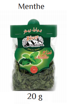 Dried menthe leaves 20g
