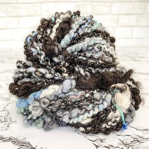 Black + Blue Art Yarn - 30 yd