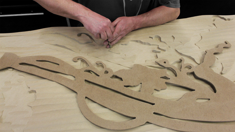 WAVE PANEL CARVING