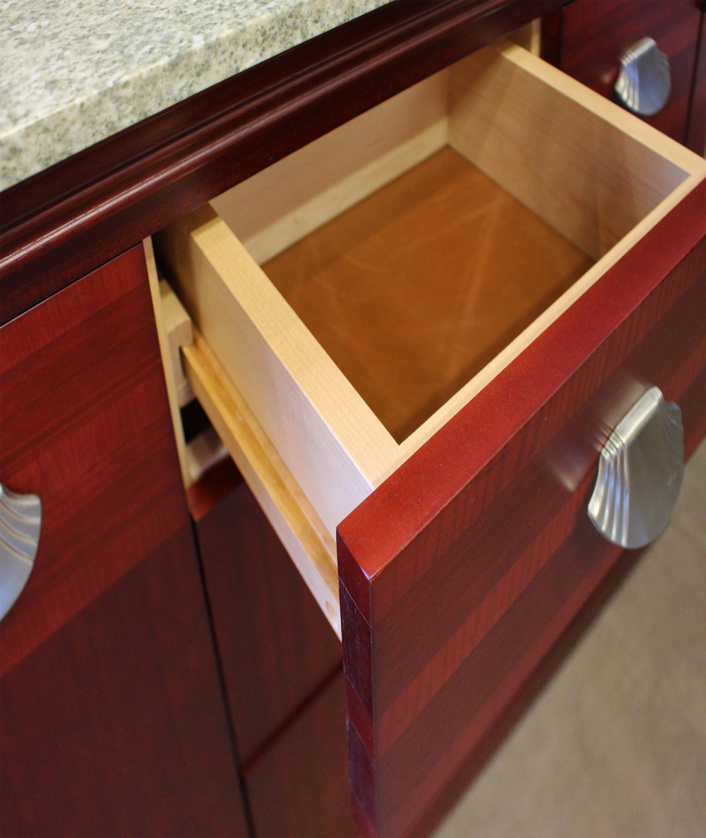 LEATHER INLAY DRAWERS