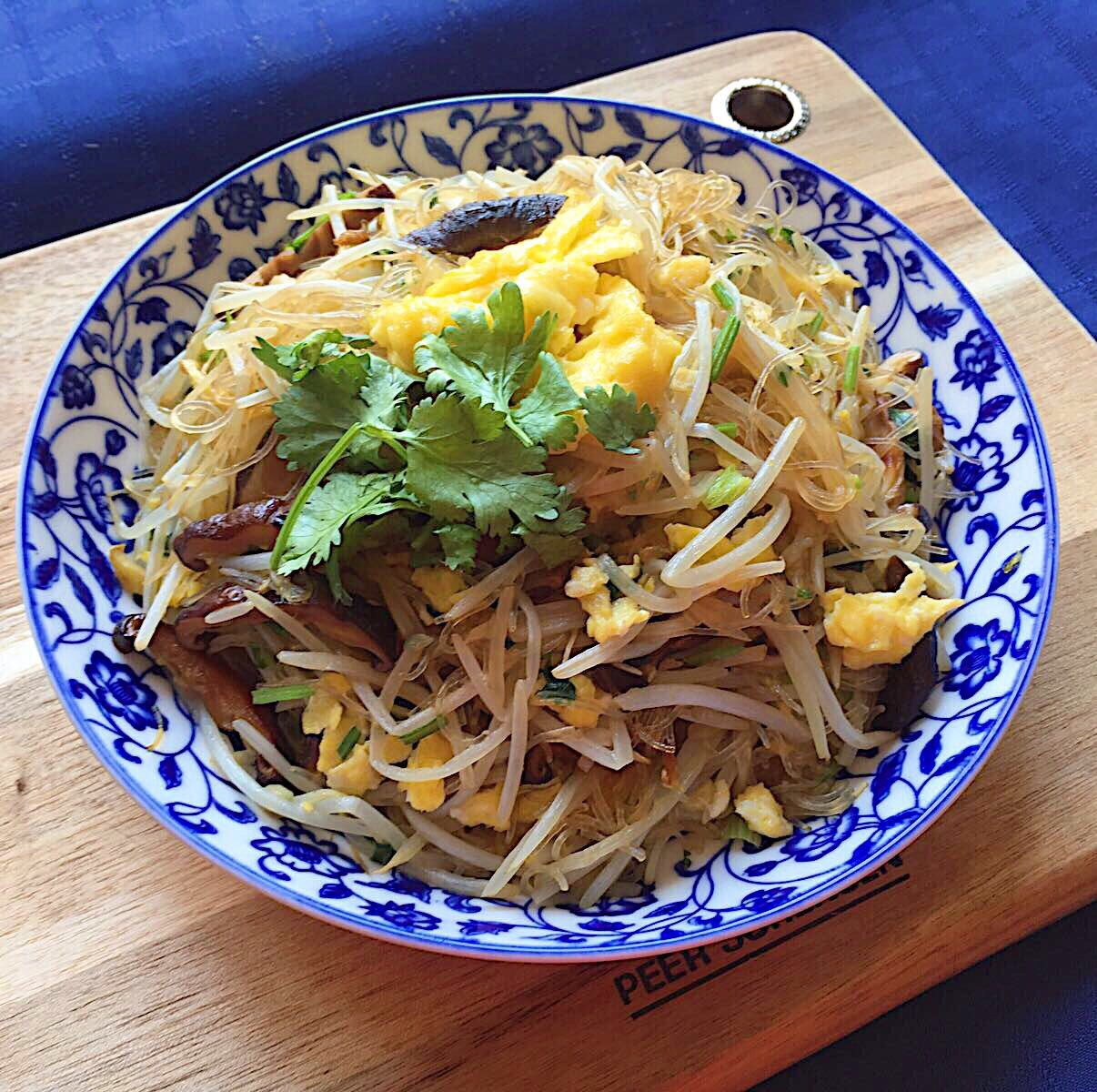 Beansprout, Glass Noodles, Mushroom