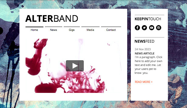 Band website templates – Musica