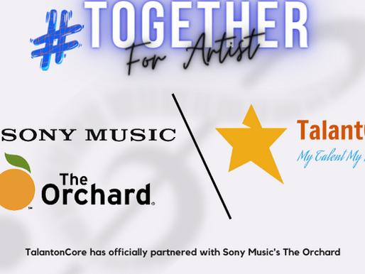 """Partnered With SonyMusic's """"THE ORCHARD"""""""