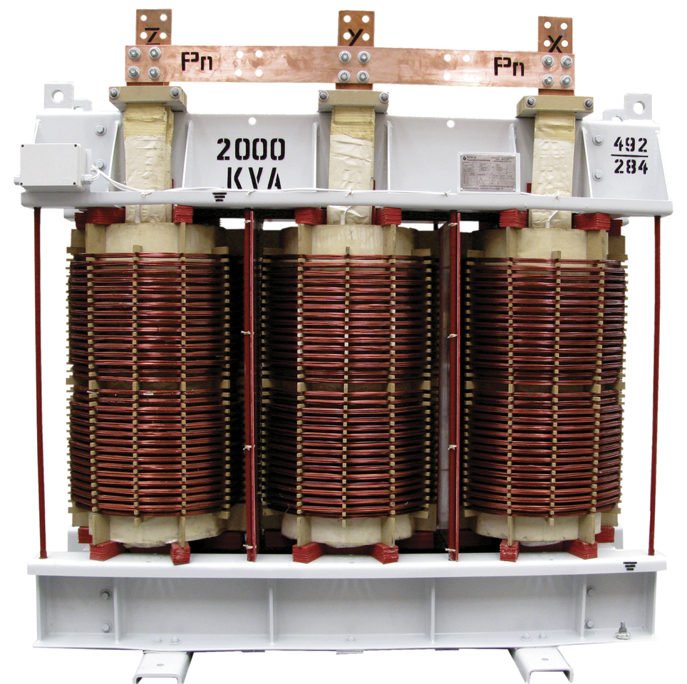 Transformador Trifásico Seco Clase H 2000 kVA serie 15 / 1.1 kV