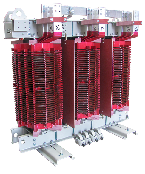 Transformador Trifásico Seco Clase H 1650 kVA Serie 15 / 1.1 - Doble Voltaje en BT