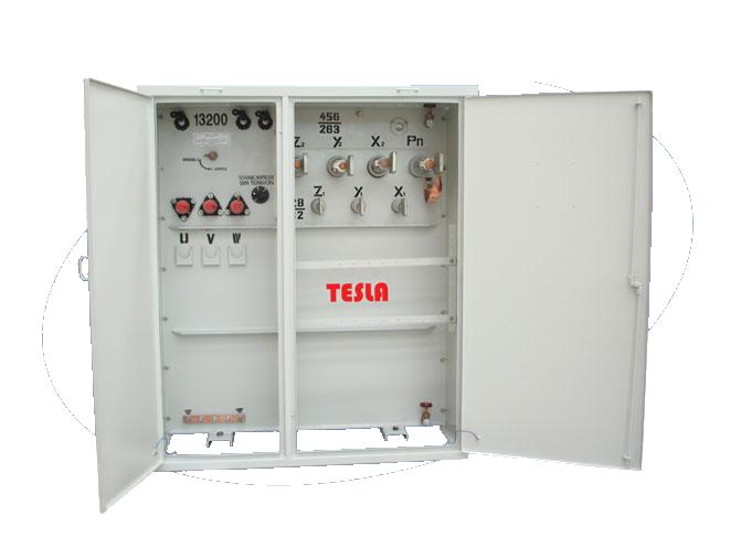 Treansformador Trifásico tipo Pedestal Radial 2000 kVA Serie 15 / 1,2 kV con doble Voltaje en BT.