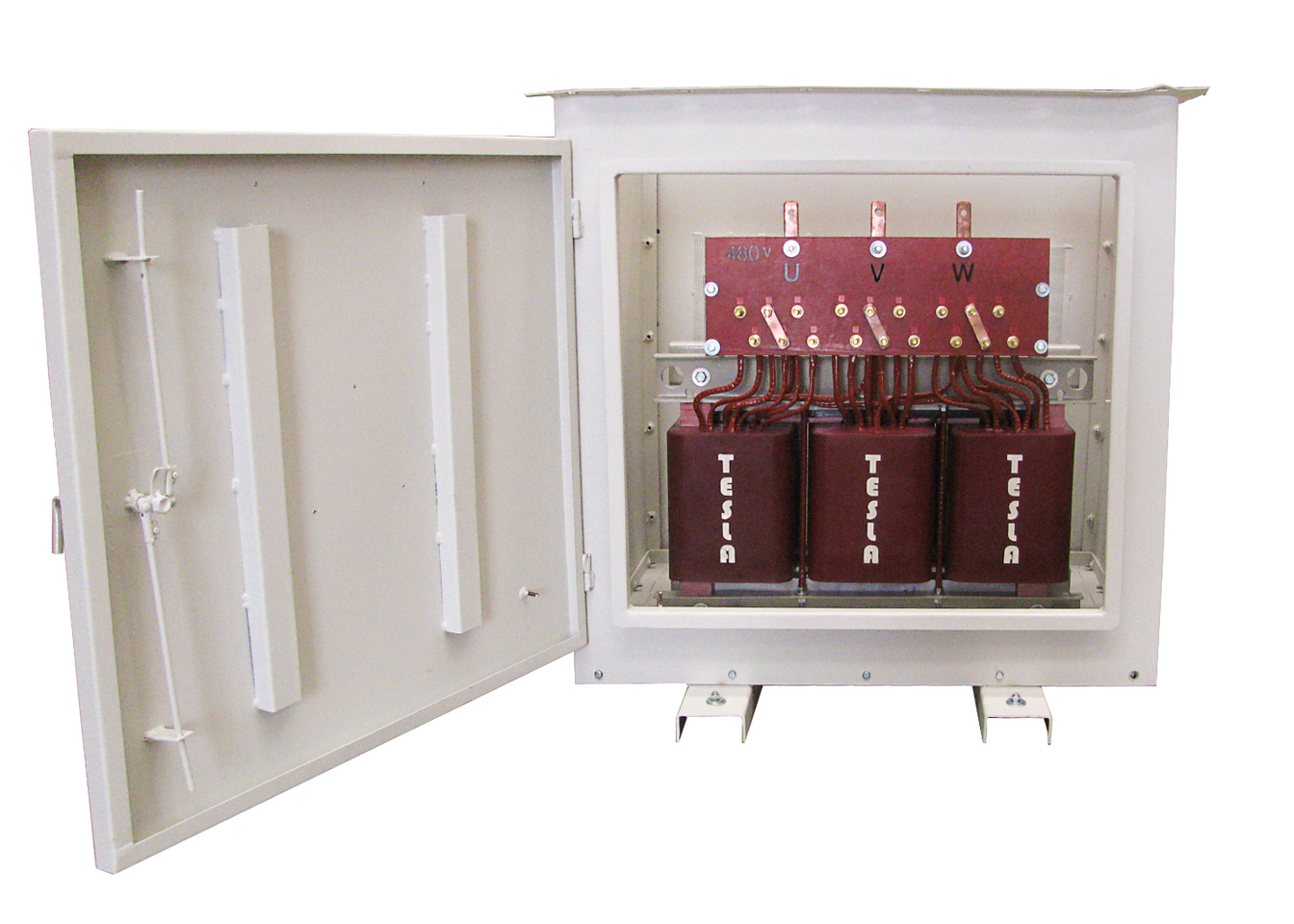 Gabinete de protección IP 54 para tranasformador Encapsulado en resina epóxica clase F 112,5 kVA Serie 1.1/1.1kV