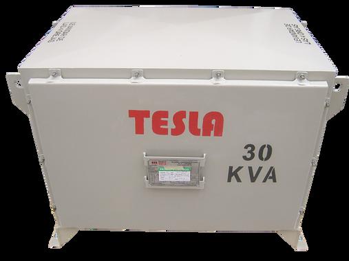 Gabinete de Protección IP 66 en acero inoxidable recubierto por pintura electrostática para transformador 30 kVA Serie 1.1/1.1 kV