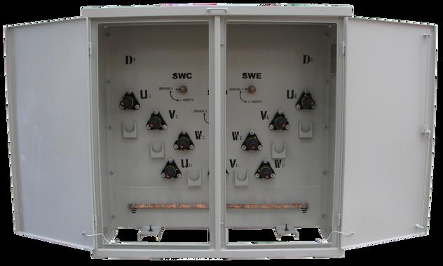 Caja de maniobras 5 Vias, Entrada, Salida y Derivaciones en 200 A