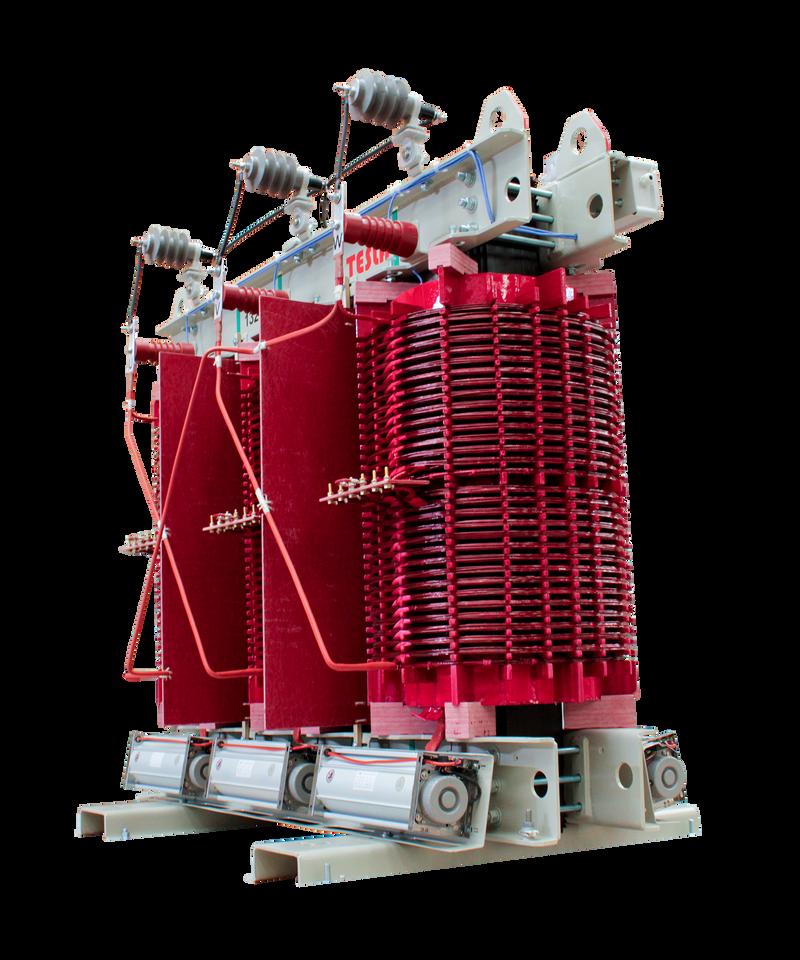 Transformador Trifásico Seco Clase H 1250 kVA serie 15 / 1.1 kV Factor K13