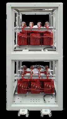 Módulo de protección IP 20 de 2 transformadores 50 kVA Serie 1.1/1.1kV para uso de espacios reducidos