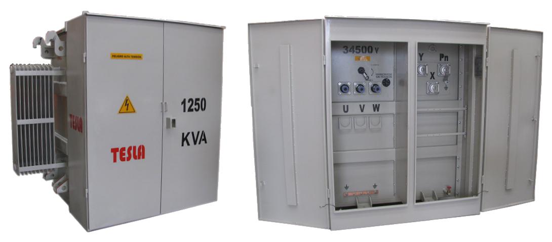 Transformador Trifásio Tipo Pedestal Radial 1250 kVA Serie 34.5 / 1.2kV