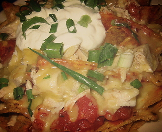 garlic chicken nachos