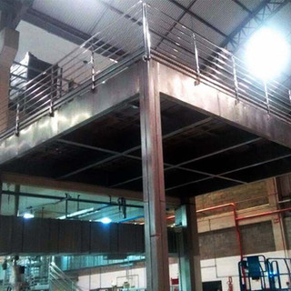 Plataforma de aço inox