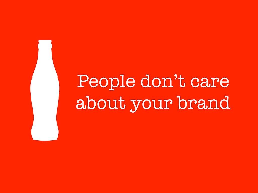 slides that rock people dont care about your brand slides that rock people dont care about your brand