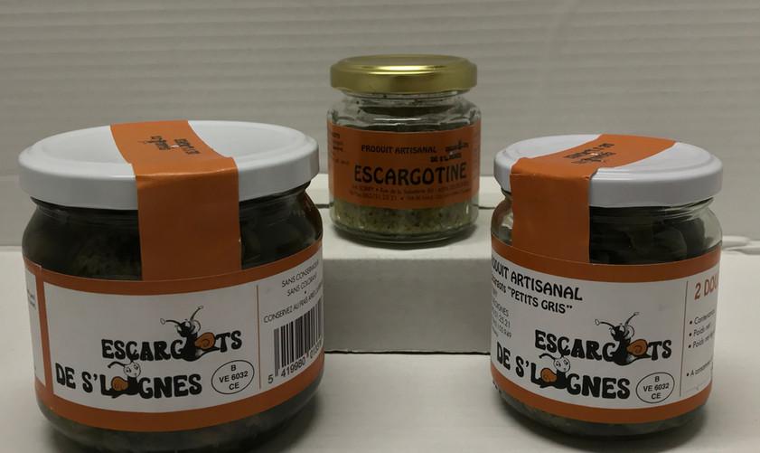 Retrouvez notre selection de produits provenant de l'escargotière de Seloignes.