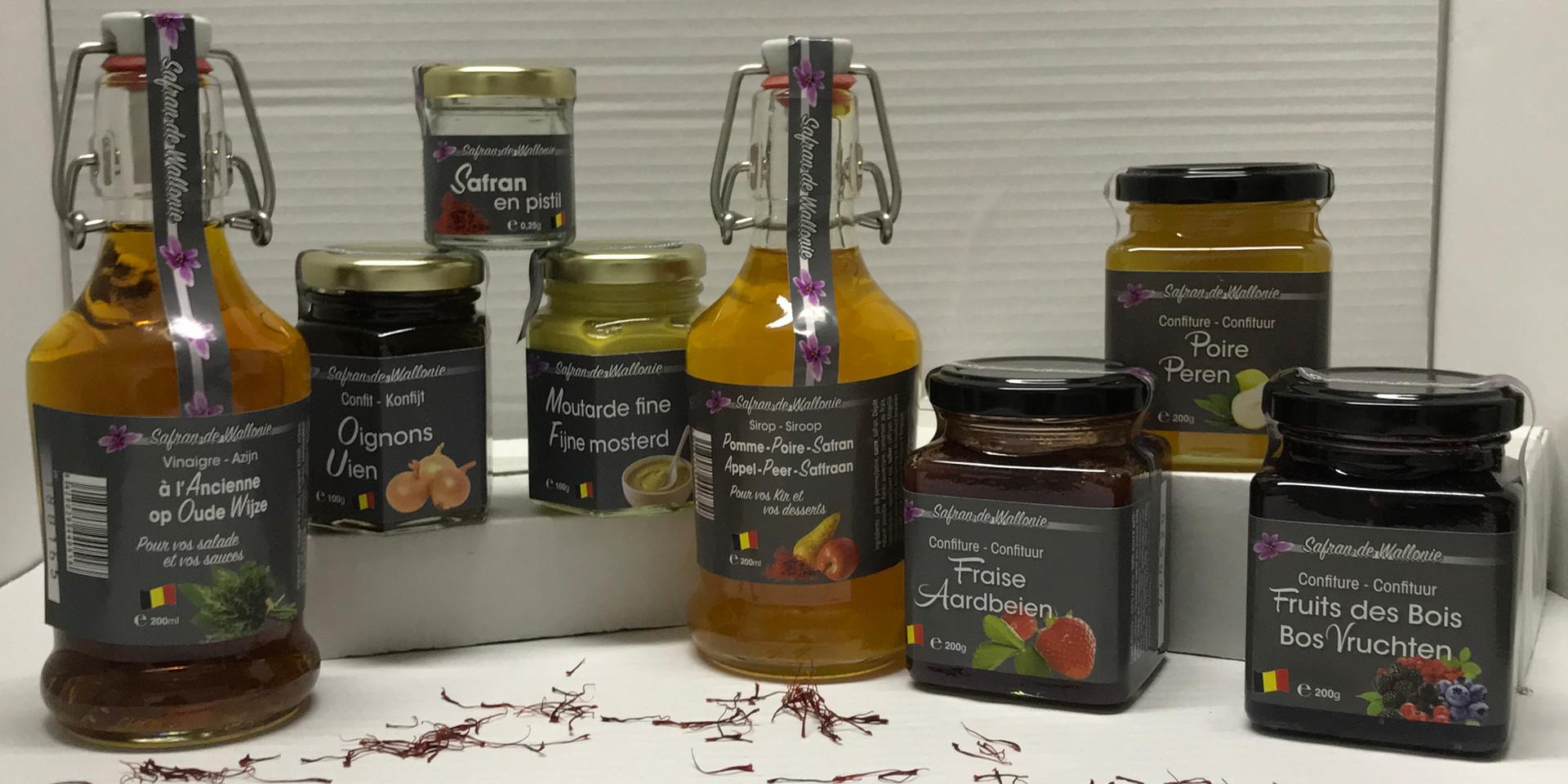 Découvrez notre selection de produits provenants de Safran de wallonie.