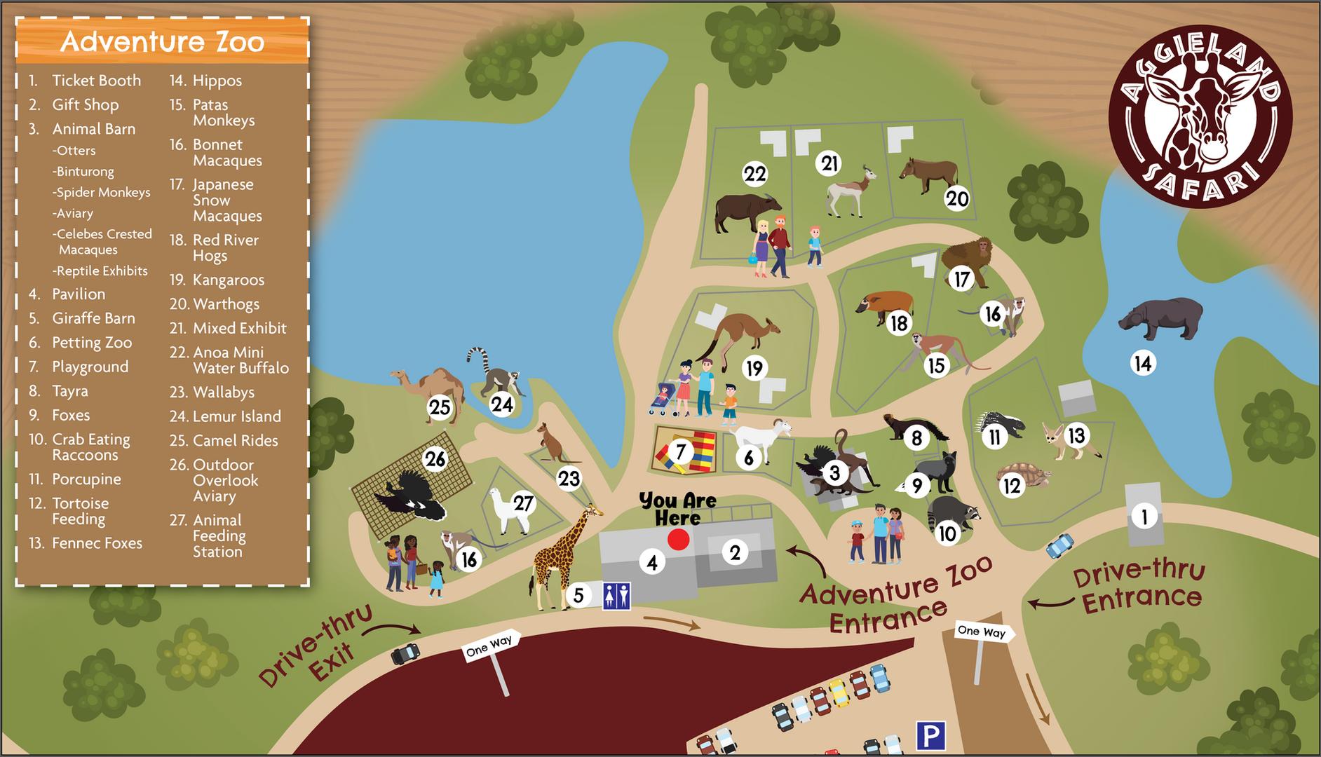 Aggieland Safari Park Map