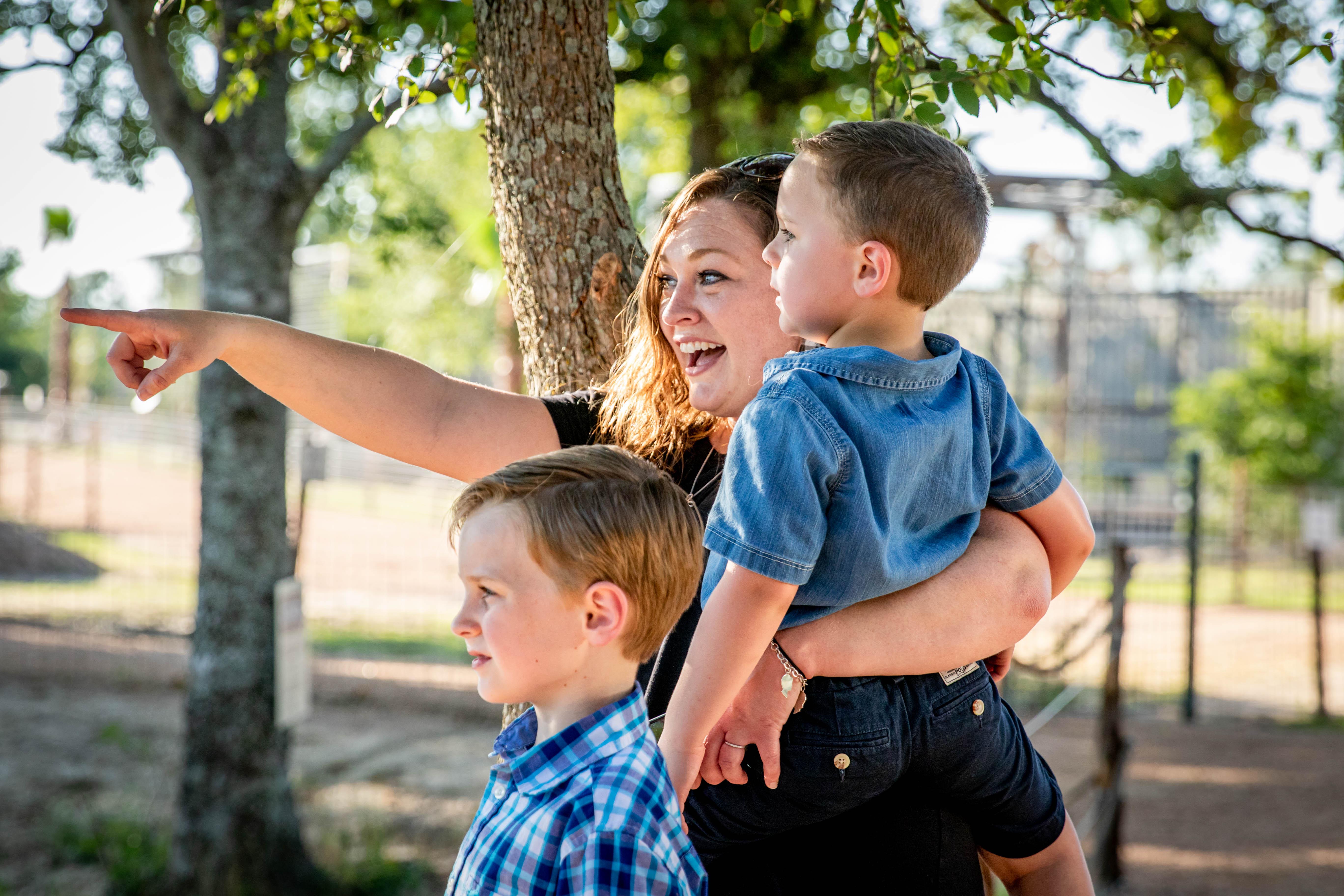 Family at Aggieland Safari