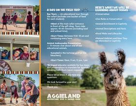 Aggieland Safari Brochure