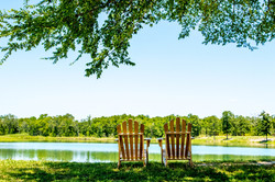 Chairs Beside Our Lake