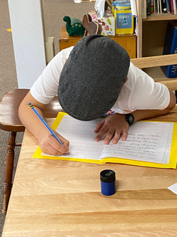 at work writing and drawing
