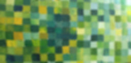 uta sommer videographer/ artist,painting of a field of green squares of various greens buy equal size