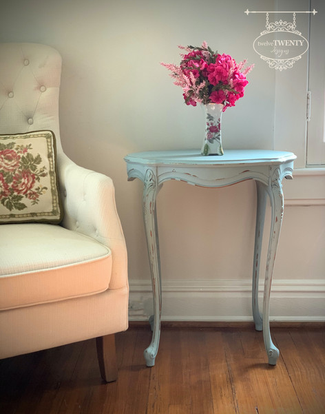 Misty Blue Side Table