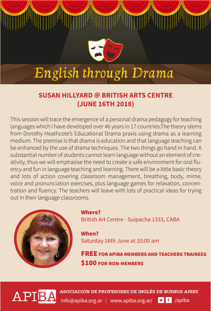 A workshop on English through Drama for APIBA