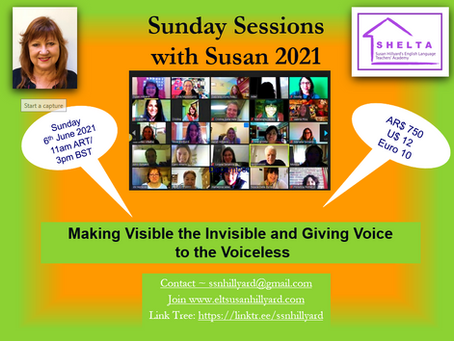 Sunday Sessions with Susan 3/21 Making Visible the Invisible and Giving Voice to the Voiceless