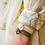 Thumbnail: Le Grigri Cauri Coloré Vert Ancien avec Estampe
