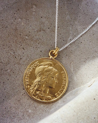 Collier Gold & Silver chaine Gourmette fine