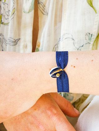 Le Grigri Cauri Coloré Bleu Roi avec Estampe