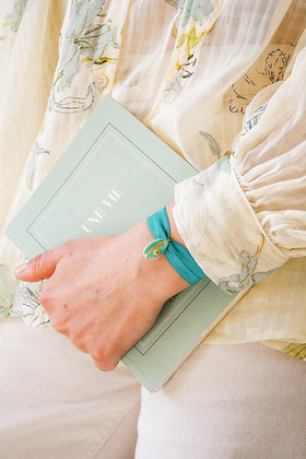 Le Grigri Cauri Coloré Turquoise avec Estampe