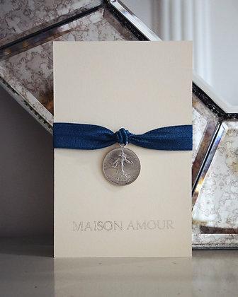 Bracelet Bleu Canard - Argent