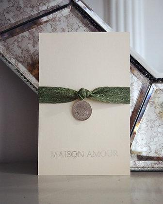 Bracelet Vert Ancien - Argent