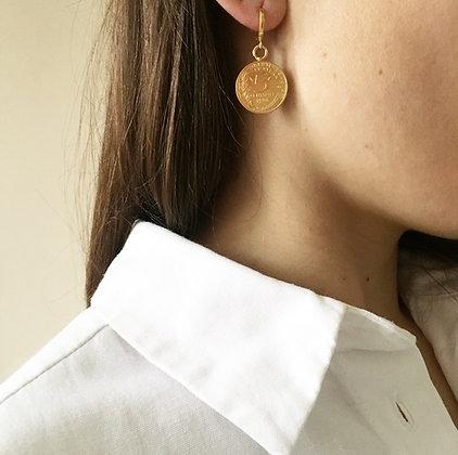 Boucles d'oreilles 5 centimes