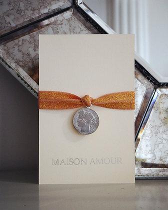 Bracelet Vieux Rose pailleté - Argent