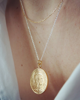 Collier Gold & Silver chaine Forçat