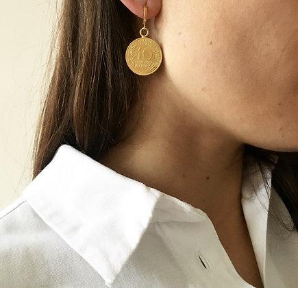 Boucles d'oreilles 10 centimes