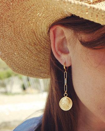 Boucles d'oreilles pendantes 50cts Morlon