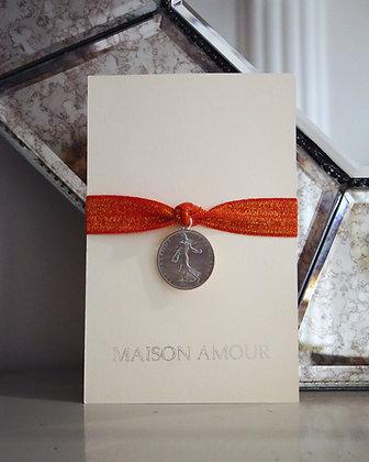 Bracelet Vermillon pailleté - Argent