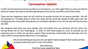 COVID-19 Message - 17th March 2020
