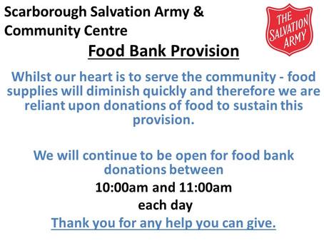 Food Bank Provision