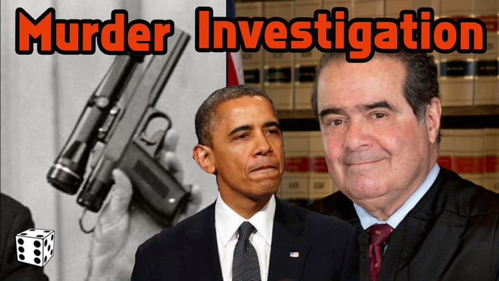 He appears to believe Antonin Scalia may have been murdered for political reasons