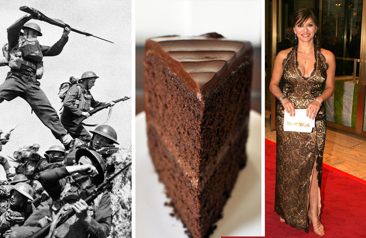 He gets excited about war, chocolate cake, and Maria Bartiromo, in that order