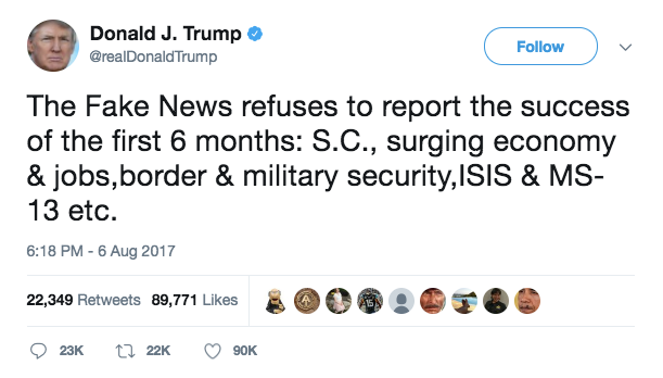All of Trump's 'accomplishments' just prove he's a dick